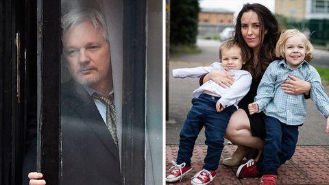 Julian Assange, Stella Moris und ihre gemeinsamen Söhne Max und Gabriel
