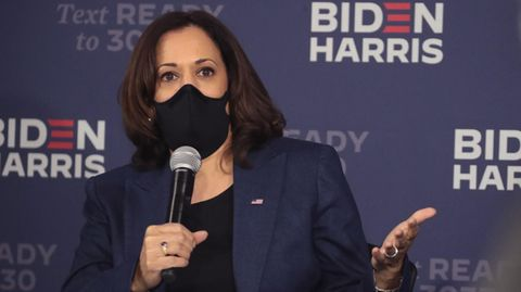 Kamala Harris in Milwaukee, im US-Bundesstaat Wisconsin