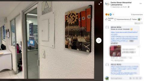 Wandbild mit Nazisymbolen im Autohaus