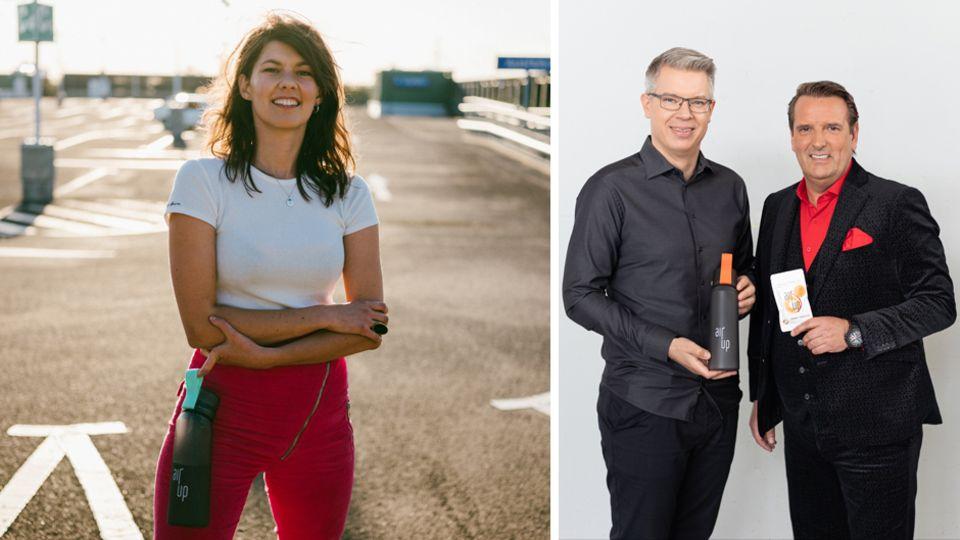 Air-up-Gründerin Lena Jüngst konnte Frank Thelen und Ralf Dümmel als Investoren gewinnen