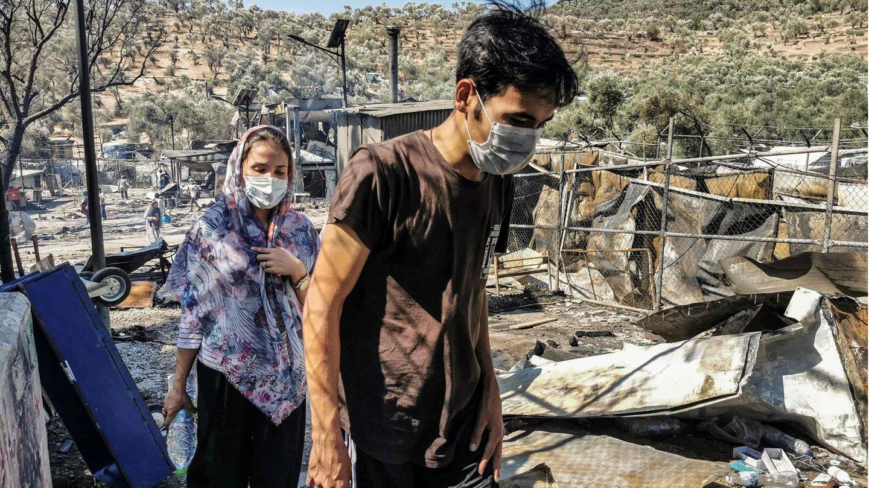 Lager Moria auf Lesbos: Das Flüchtlingslager Moria brennt – so müssen die Menschen dort leben