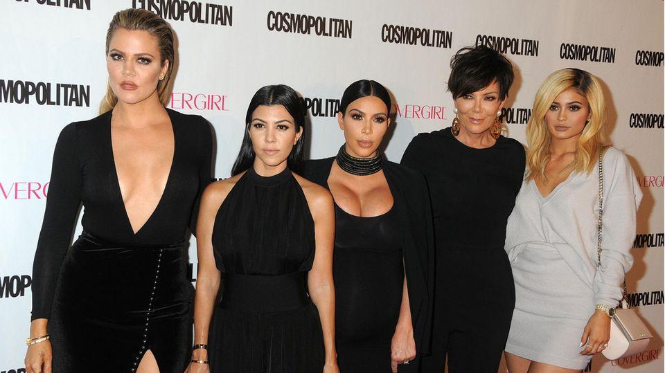 Khloe Kardashian, Kourtney Kardashian, Kim Kardashian, Kris Jenner und Kylie Jenner