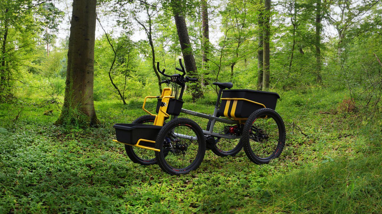 Gedacht ist das 4Forest für den Einsatz auf Feldwegen, im Wald und auf Wiesen.