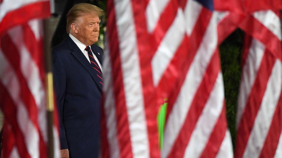 Donald Trump leicht grinsend