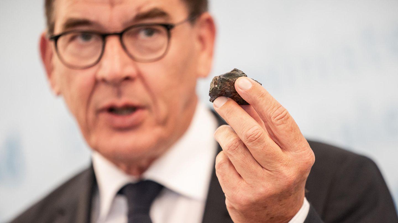 Entwicklungsminister Gerd Müller (CSU) bei der Pressekonferenz zum Lieferkettengesetz im Juli