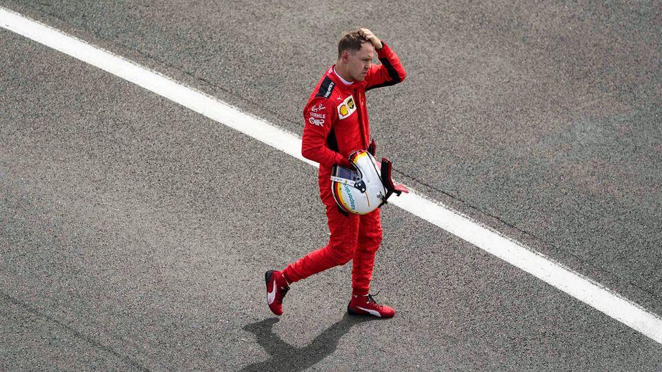 Sebastian Vettel erlebte im Ferrari in dieser Saison ein Desaster nach dem anderen