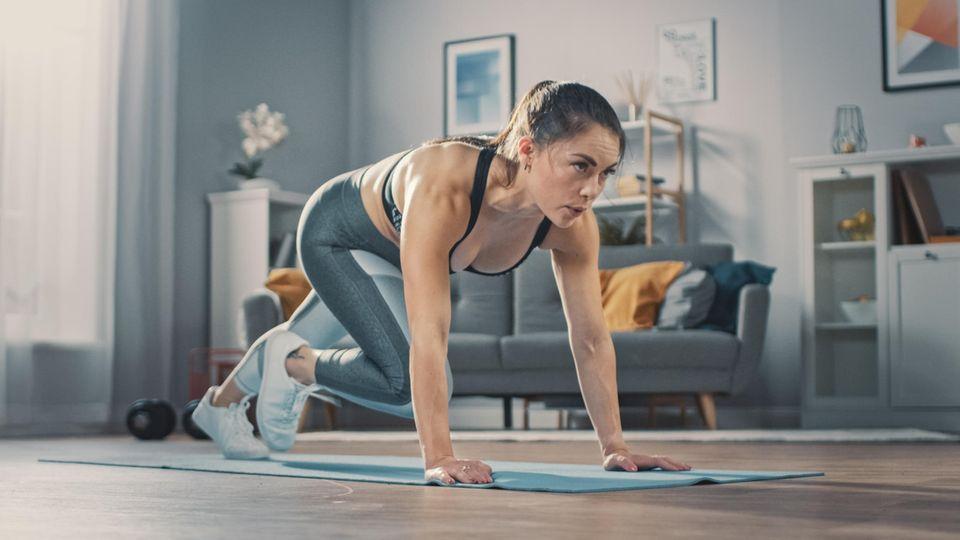 Ein Frau beim Training