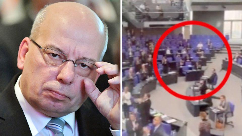 Auch Polizist Rainer Wendt verurteilt das Verhalten der AfD im Bundestag scharf