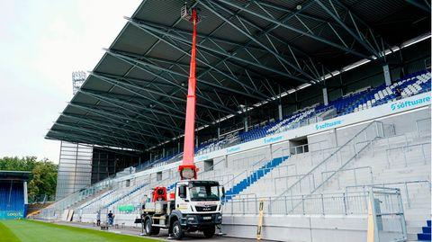Das Merck-Stadion desSV Darmstadt 98 am Böllenfalltor