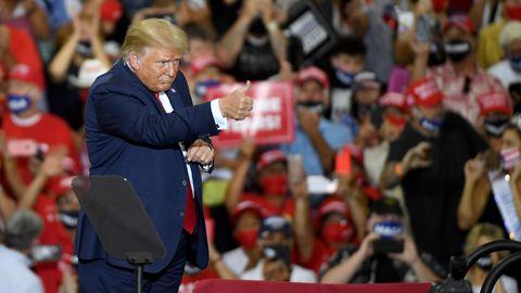 Trump auf der Wahlkampfveranstaltung in Henderson, Nevada