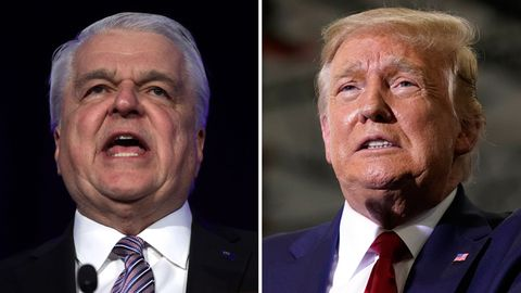 Steve Sisolak (l.) und Donald Trump