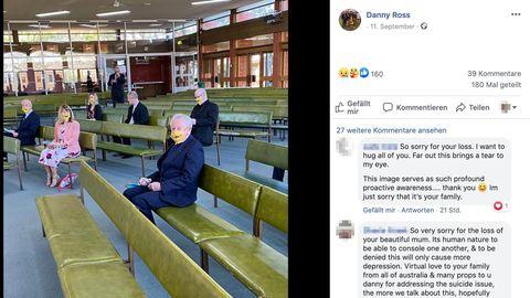 Beerdigung während Corona: Trauern mit Abstand: Hinterbliebene können sich nicht gegenseitig Trost spenden