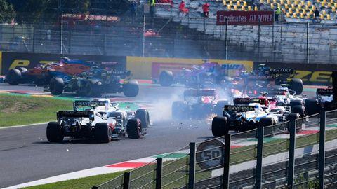 Chaos-Rennen: Es hab einige Crashs in Mugello