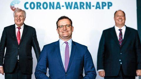 Horst Seehofer, Jens Spahn und Helge Braun