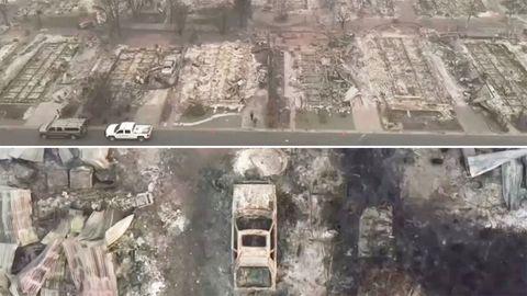 Waldbrände in den USA: Luftaufnahmen zeigen Ausmaß der Zerstörung – Amerikas Apokalypse