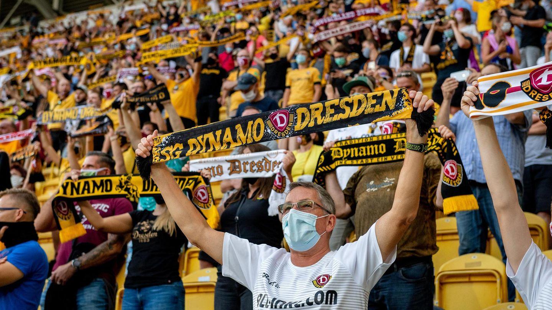 Fans in Dresden