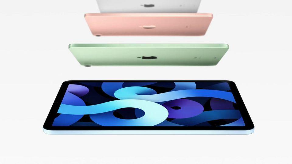 Das neue iPad Air 4 ist in fünf Farben erhältlich