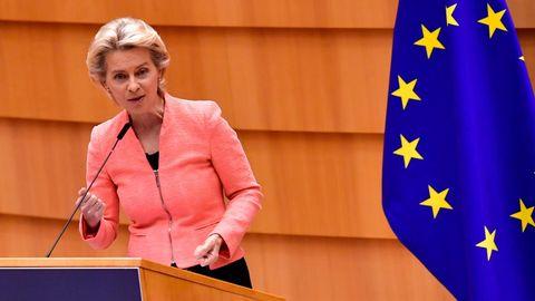 EU-Kommissionspräsidentin von der Leyen kündigt in Brüssel verschärfte Klimaziele an