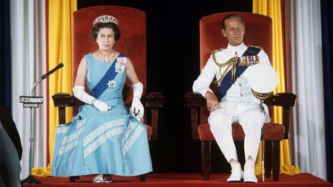 Barbados Queen Elizabeth II. und Prinz Philip