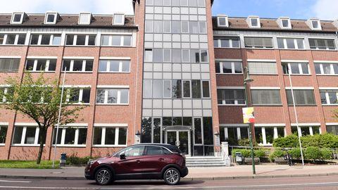 Blick auf das Justizzentrum mit dem Landgericht Dessau-Roßlau