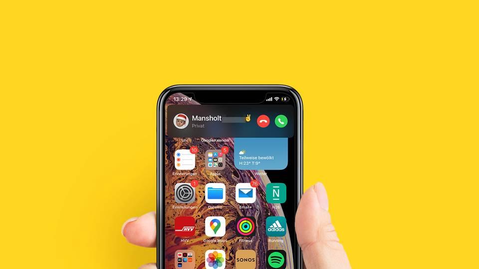 Anrufe sind mit iOS 14 deutlich dezenter