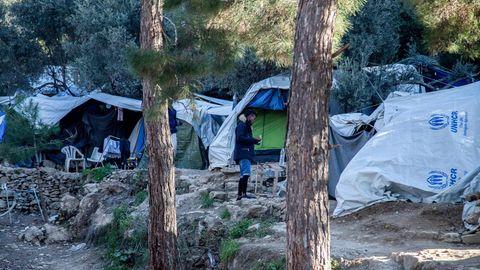 Momentaufnahme des Flüchtlingslagers Vathi (Insel Samos) im Januar 2020