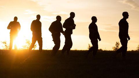 Fremden-Legionäre beim Morgensport