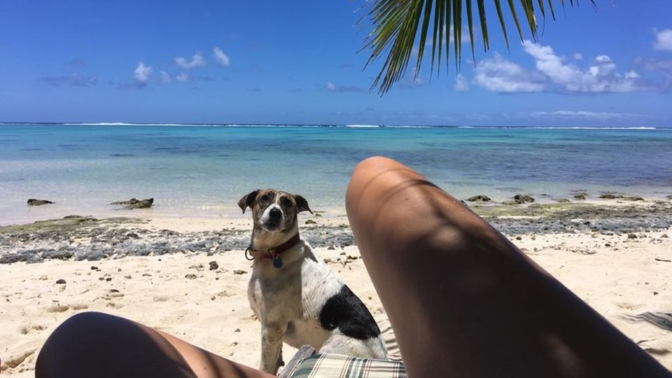 Strand von Rarotonga