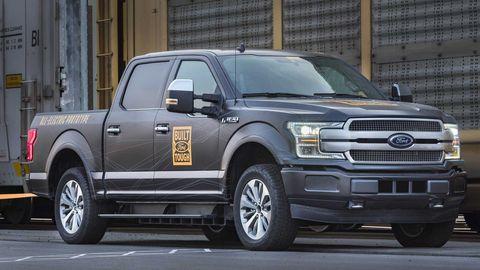 Ford F-150 als Elektro-Pick-up  Der F-150 kommt erst 2022 als Elektroversion. Aber der billige Pick-up zeigt, dass der E-Antrieb auch in das Reich der Arbeitstiere vorrückt.