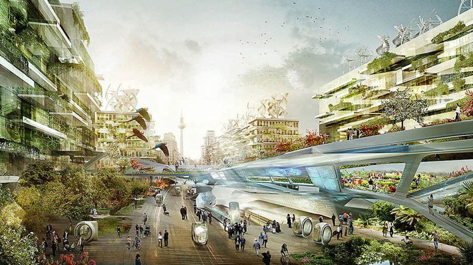Allen Visionen über die Stadt von morgen ist eins gemeinsam: Sie werden grüner und der Mensch wird zum Maß der Dinge.