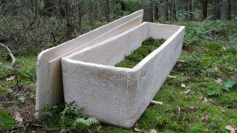 """Ein """"lebender"""" Sarg aus Pilzen soll Beerdigungen umweltfreundlicher machen."""