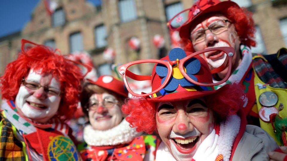 Karnevalisten in Düsseldorf