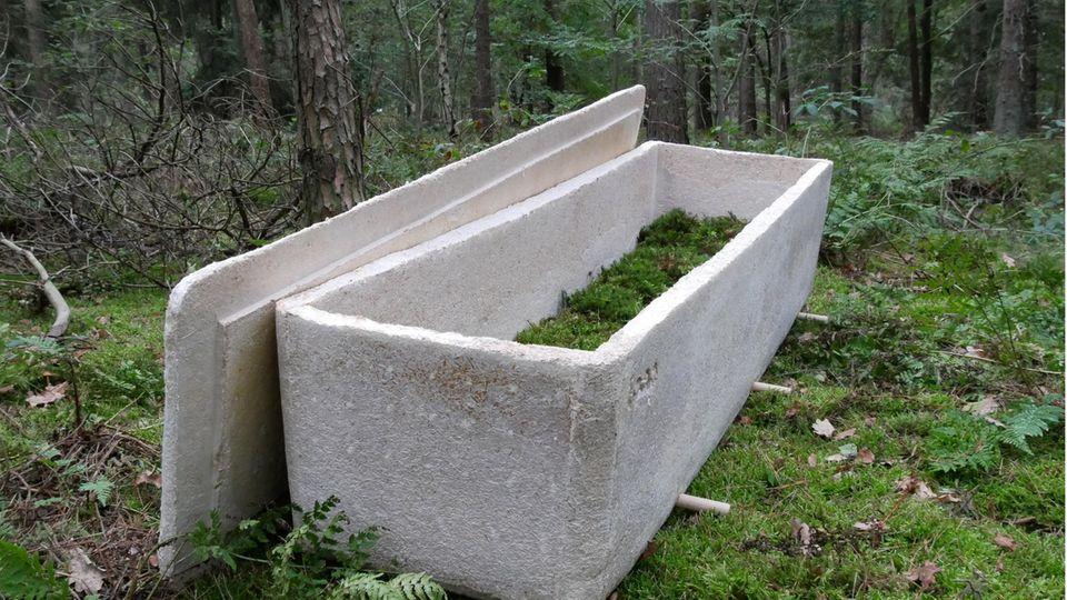 """Der """"Lebende Kokon"""" ist für die Bestattung in der Natur gedacht."""