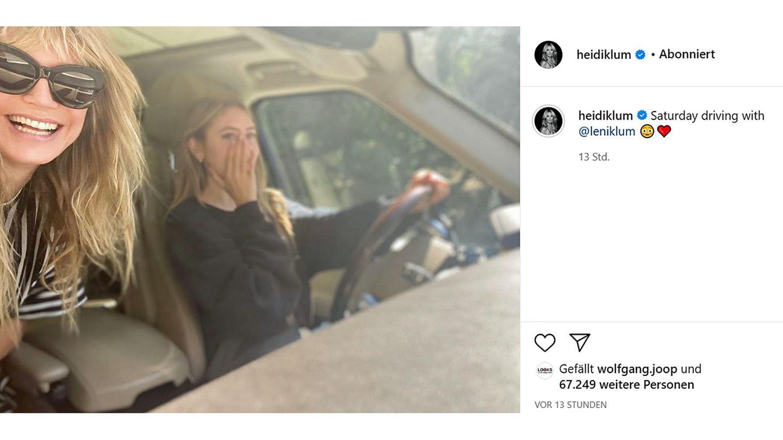 Vip News: Tochter am Steuer: Heidi und Leni Klum auf Spritztour