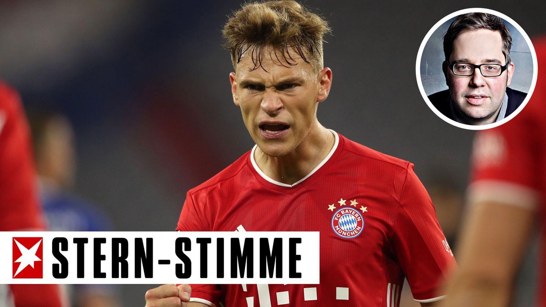 Joshua Kimmich vom FC Bayern im Spiel gegen Schalke 04