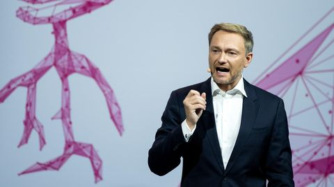 Christian Lindner, Bundesvorsitzender der FDP, spricht beim Bundesparteitag der Freien Demokraten
