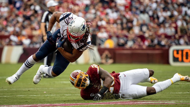 sport kompakt: Fullback Jakob Johnson bei einem Spiel der New England Patriots