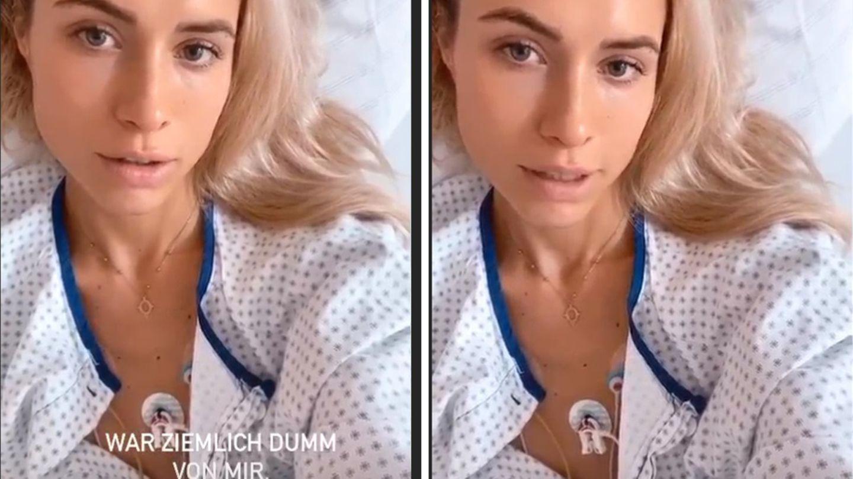 Alena Gerber meldet sich aus dem Krankenhaus bei ihren Instagram-Followern