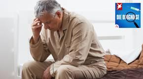 Ein Mann leidet an Schlafstörungen und Albträumen – wegen seiner Augen