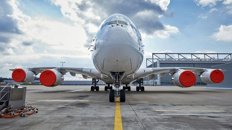 Airbus A380 der Lufthansa