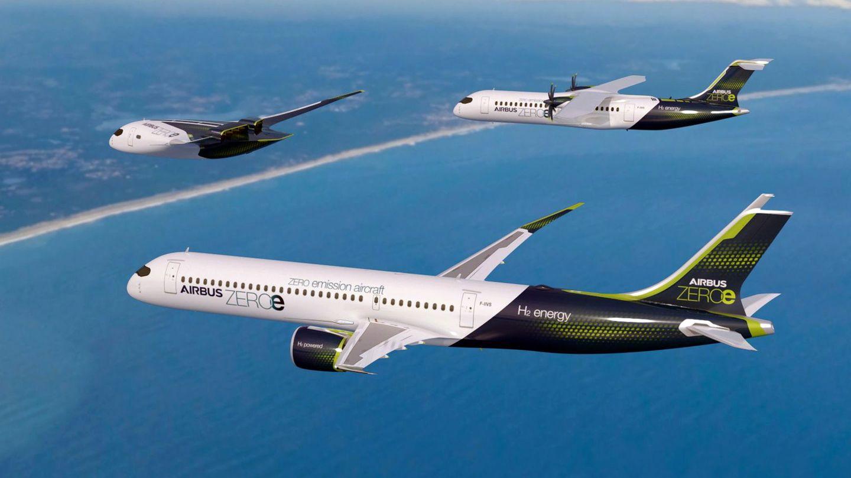 Wasserstoff statt Kerosin als Antrieb: Die dreiFlugzeuge und die drei Zero-E-Konzepte von Airbus