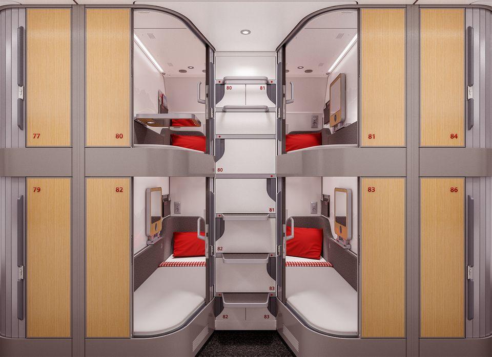 """Ab Ende 2022 im Einsatz: die """"Minisuiten"""" im Liegewagen des Nightjets"""