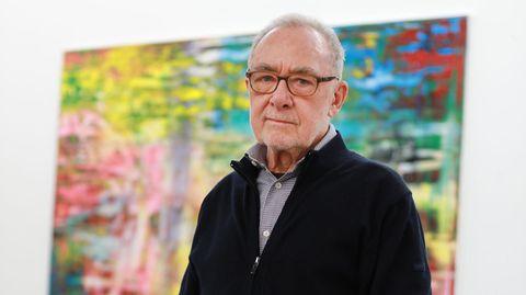Gerhard Richter in seinem Atelier