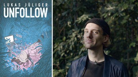 """Neben seiner Graphic Novel """"Unfollow: Illustrator und Autor Lukas Jüliger"""