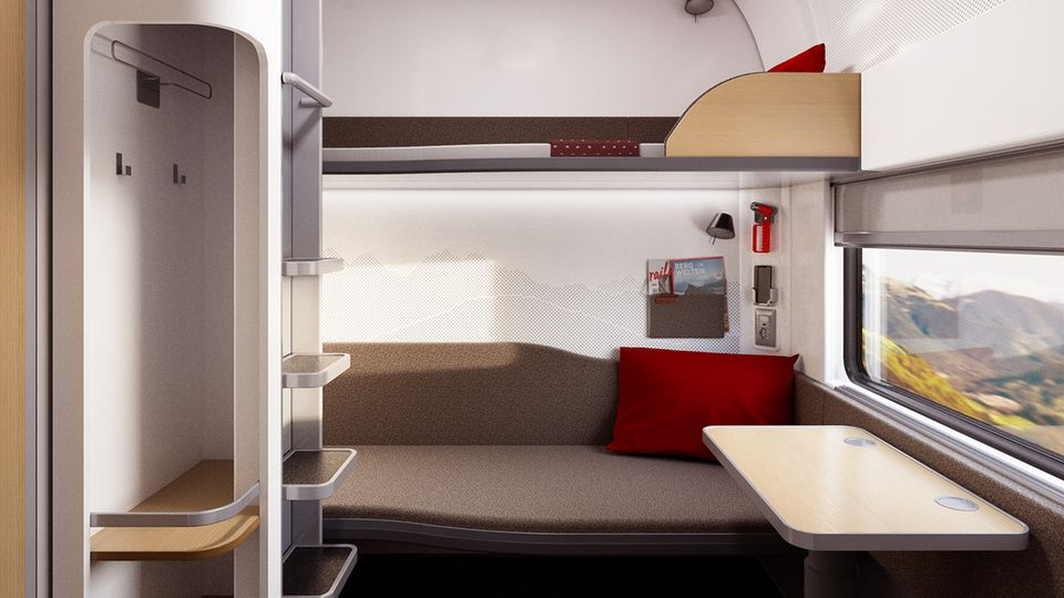 Mehr Privatsphäre mit Garderobe, Dusche und WC: der Schlafwagen der neusten Generation des Nightjets