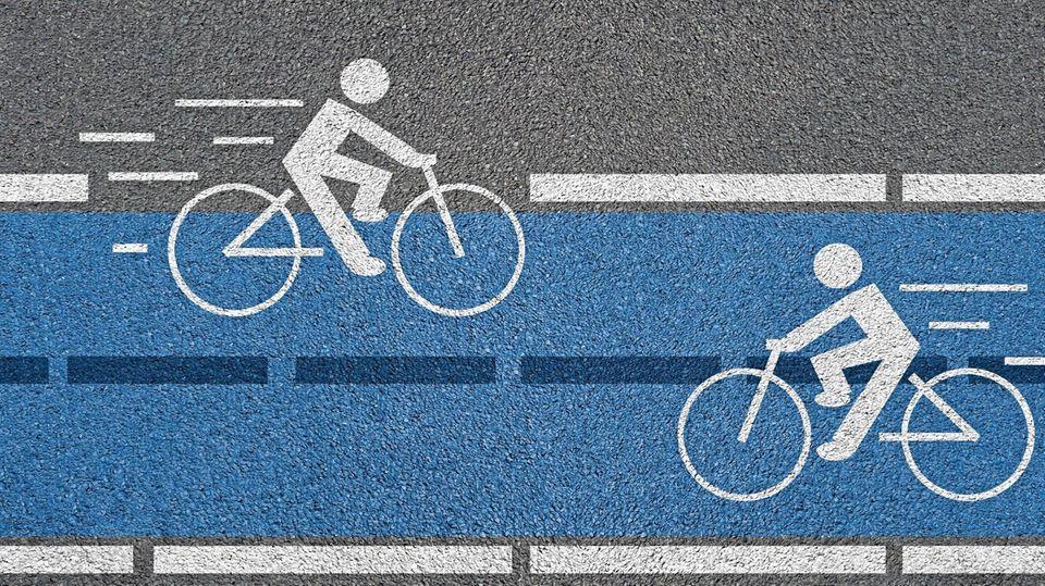 Ein Radweg