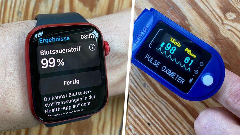 Das Pulsoxymeter der Apple Watch Series 6 im Vergleich mit einem handelsüblichen Gerät zur Blutsauerstoffmessung