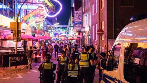 Die Große Freiheit in Hamburg während der Coronavirus-Pandemie