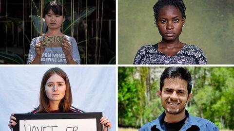 Aktivisten aus der ganzen Welt kämpfen gegen die Klimakrise
