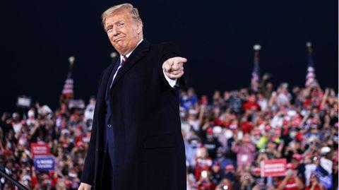 Donald Trump bei einem Wahlkampfauftritt